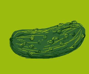 intricately designed pickle