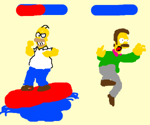 Homer uses surf against Flanders!!