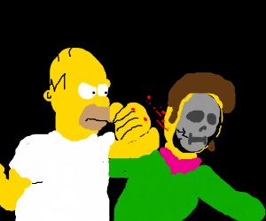 Homer uses mk9 style x-ray vs Flanders