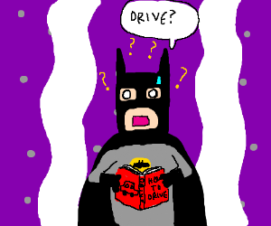 Japanese Batman confused about driving rules