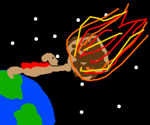 Dog will save the earth from meteor