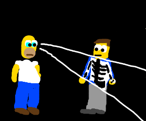 Homer Simpson gets xray vision