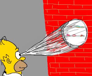 Homer has X-ray vision?!