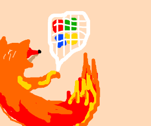 Firefox traps Windows in a net.