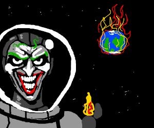 Joker sets the world on fire