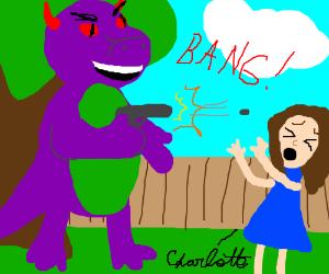 Barney the Demon Dinosaur shooting Charlotte