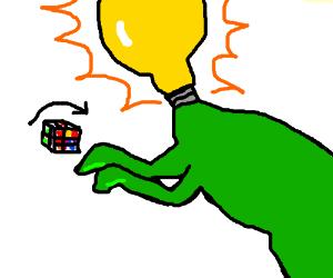 Bulbasaur solving a rubiks cube
