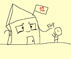 Canadian house gives guy ''fuk''