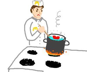 Disgruntled McDonald's chef boils heart