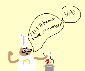 Chef secretly dips bloody sock in food