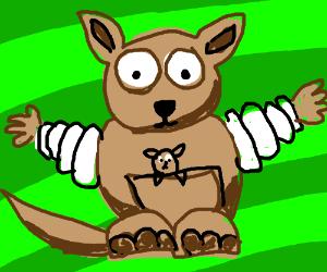 kangaroo with bibendum arms