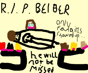 Justin Bieber's funeral