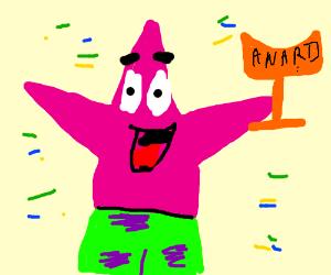 Patrick gets an award.