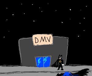 Batman needs to get his license renewed