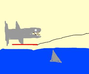 Flaming Shark on Jet Ski