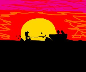Jetskiing at Sunset