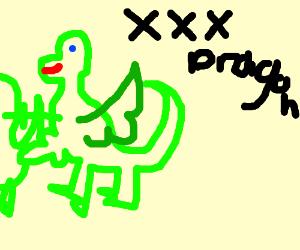 Detailed dragon vore