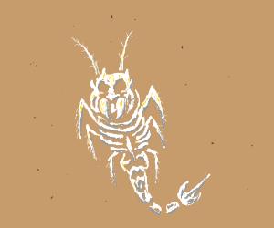 Extremely badass insect-mammal hybrid skeleton