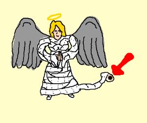 Toilet paper angel
