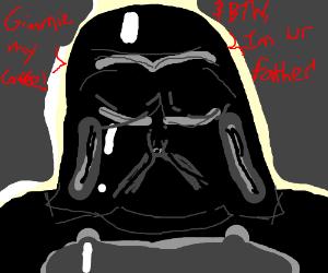 Darth Vader needs coffee!