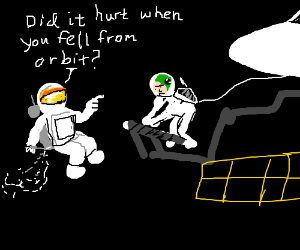 Cheesy space shuttle pick-up lines