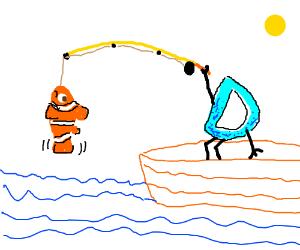 Drawception D interrupts Finding Nemo