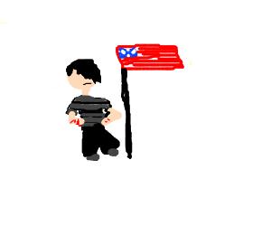 Emo wit the USA flag