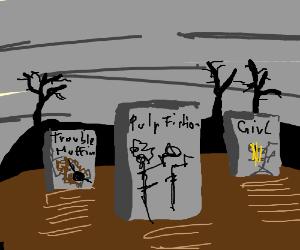 Graveyard of bad drawigs.