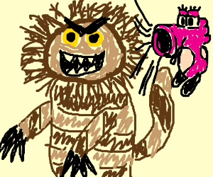 where the wild things are monster riding a bik