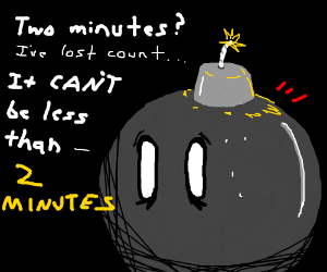 Bob-omb fears inevitable death by blowing up