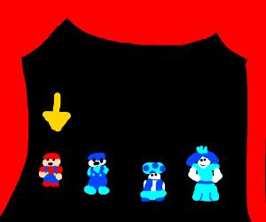 Super Mario Bros 2 Character Selection Screen Drawception