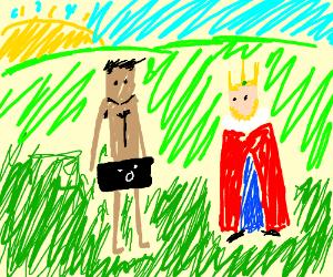 King having interracial intercourse at sunrise
