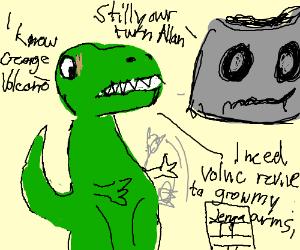 T rex can't reach the janga