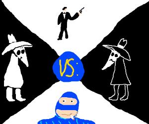 White Spy vs. Black Spy vs. TF2 Spy