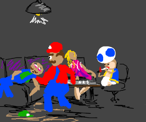 Super Mario's crew on drugs