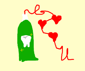 Toothpaste loves you