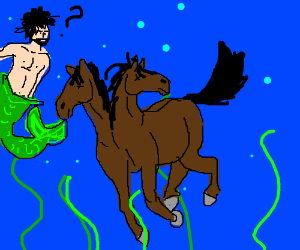 Mermen find drowned two-headed horse weird