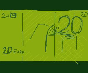 20 Euro bill