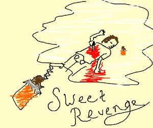 bitten chocolate bar dreams of revenge