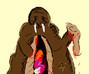 Walrus removes all of his organs