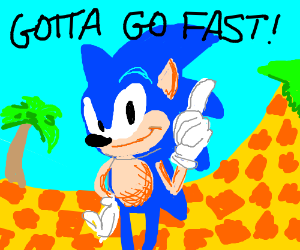 Sonic humiliating his opponents