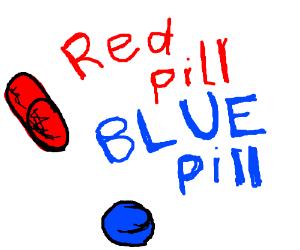 Dr Seuss's book Red Pill, Blue Pill