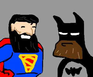superheroes have a beard contest