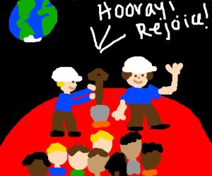 Humans colonize Mars and rejoice