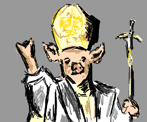 """""""PIG POPE GIVE US HOPE"""""""