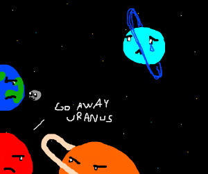 Uranus is the planet noone wants 2hangout with