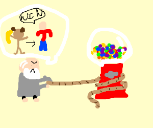Darwin and Gumball Watterson playing tug o'war