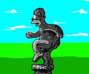 Grey Simpsons Statue