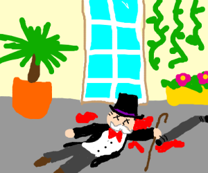 Monopoly Man is victim in new Cluedo (Clue)