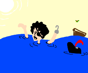 drowning pirate